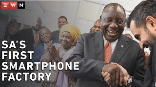 The president attended the launch of the Mara Group's smartphone manufacturing plant in Durban, following the launch of the first plant in Kigali, Rwanda, two weeks ago.