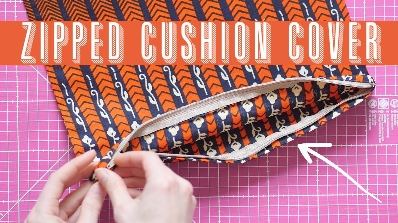 How to Sew an Zipped Cushion Cover | Scrap Busting Projects