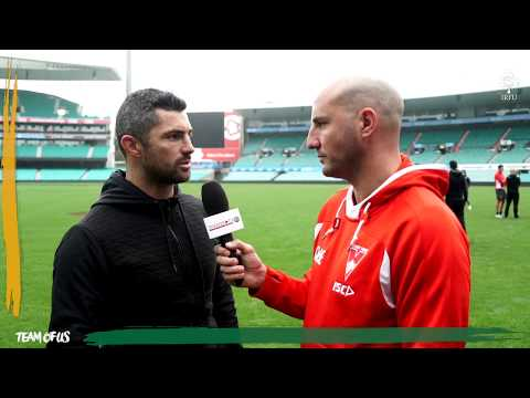 Ireland Down Under: Rob Kearney & Tadhg Kennelly During Visit To Sydney Swans