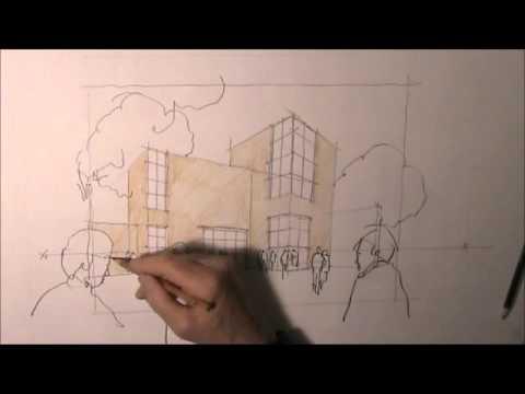 architektur zeichnen lernen 5 youtube. Black Bedroom Furniture Sets. Home Design Ideas