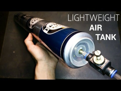 lightweight aluminum air tank made out of beer can youtube. Black Bedroom Furniture Sets. Home Design Ideas