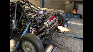 Flame throwing buggy on the dyno! BMW S1000RR engine with complete KMS system.
