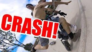 CRASH! SKATE VS. ELECTRIC SCOOTER(ЭкспертПроЛайв (Авто подбор) - http://goo.gl/2L5DtB Юридическая помощь - http://www.autopodbor.pro/ Съемки новой серии БАЙКА..., 2016-07-02T15:57:17.000Z)