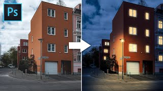 Photoshop Tutorial | Turn DAY into NIGHT in Photoshop with Lighting Effect