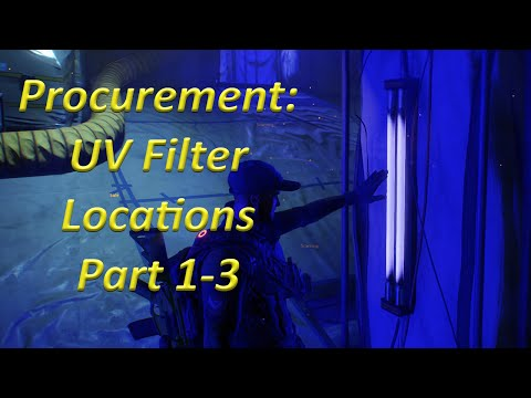 UV Filters Part 1-3 Procurement Side Quest