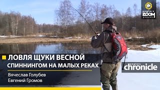 Ловля щуки весной спиннингом на малых реках. В.Голубев и Е.Громов. Anglers Chronicle