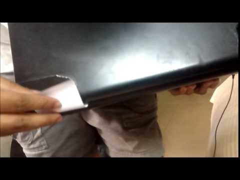 Sheet metal hack (1) for Laptop's broken hinge