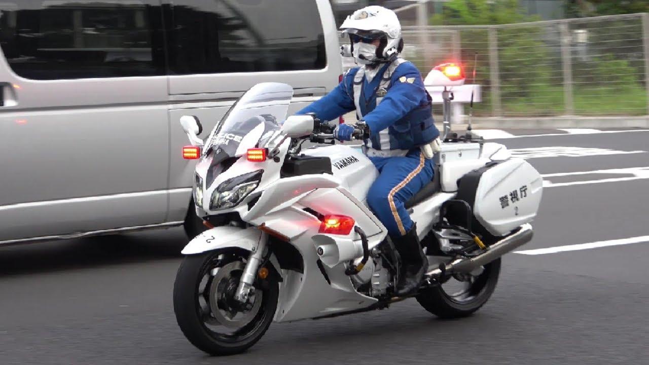 白バイ(FJR1300P)緊急走行・取締りの瞬間!近未来的なサイレン音でスピード違反も信号無視も一時不停止も全員検挙スペシャル!Japanese police motorcycle