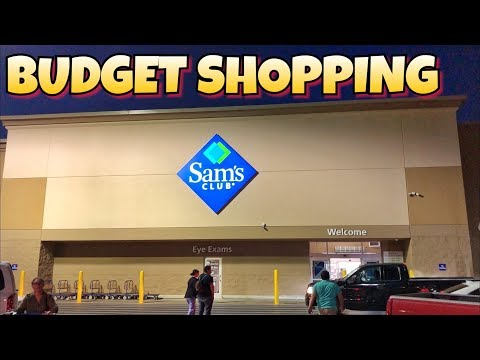 Extreme Budget Survival Shopping at Sam's Club