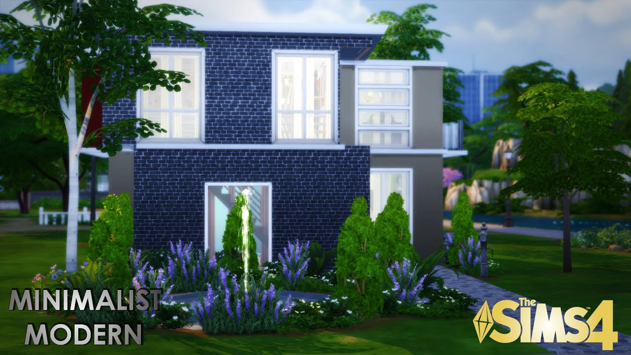 The sims 4 house build minimalist modern youtube for Minimalist house sims 2