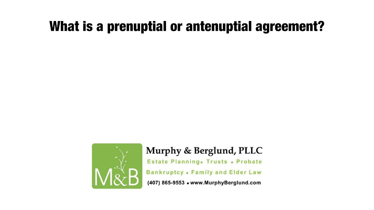 What is a prenuptial or antenuptial agreement youtube what is a prenuptial or antenuptial agreement platinumwayz