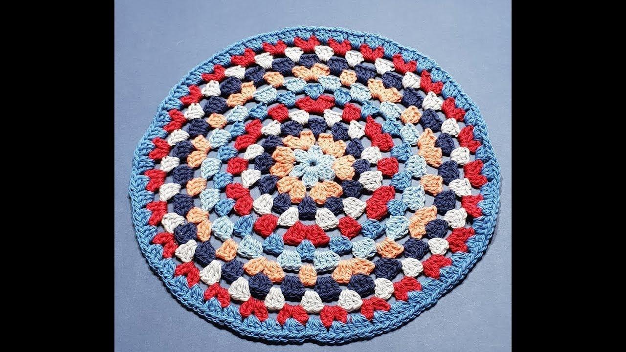 Crochet Granny Circle Part 1 Youtube