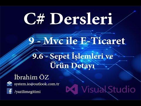 C# Dersleri 9 - MVC ile E-Ticaret 9.6 - Sepet İşlemleri ve Ürün Detayı