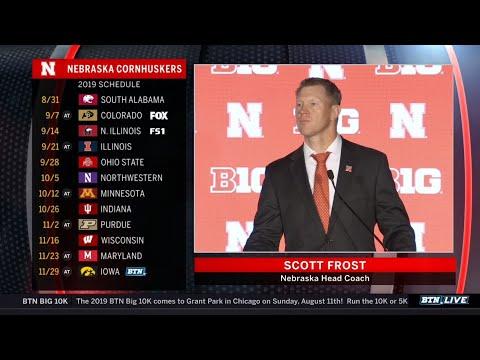 Nebraska Coach Scott Frost Talks Huskers Title Chances in Year 2   2019 B1G Football Media Days