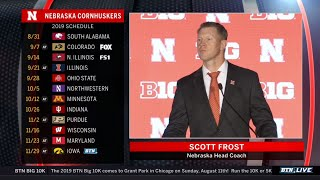 Nebraska Coach Scott Frost Talks Huskers Title Chances in Year 2 | 2019 B1G Football Media Days