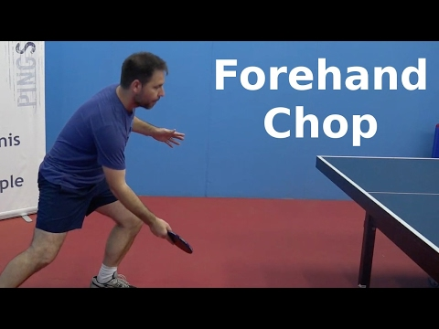 Forehand Chop | Table Tennis | PingSkills
