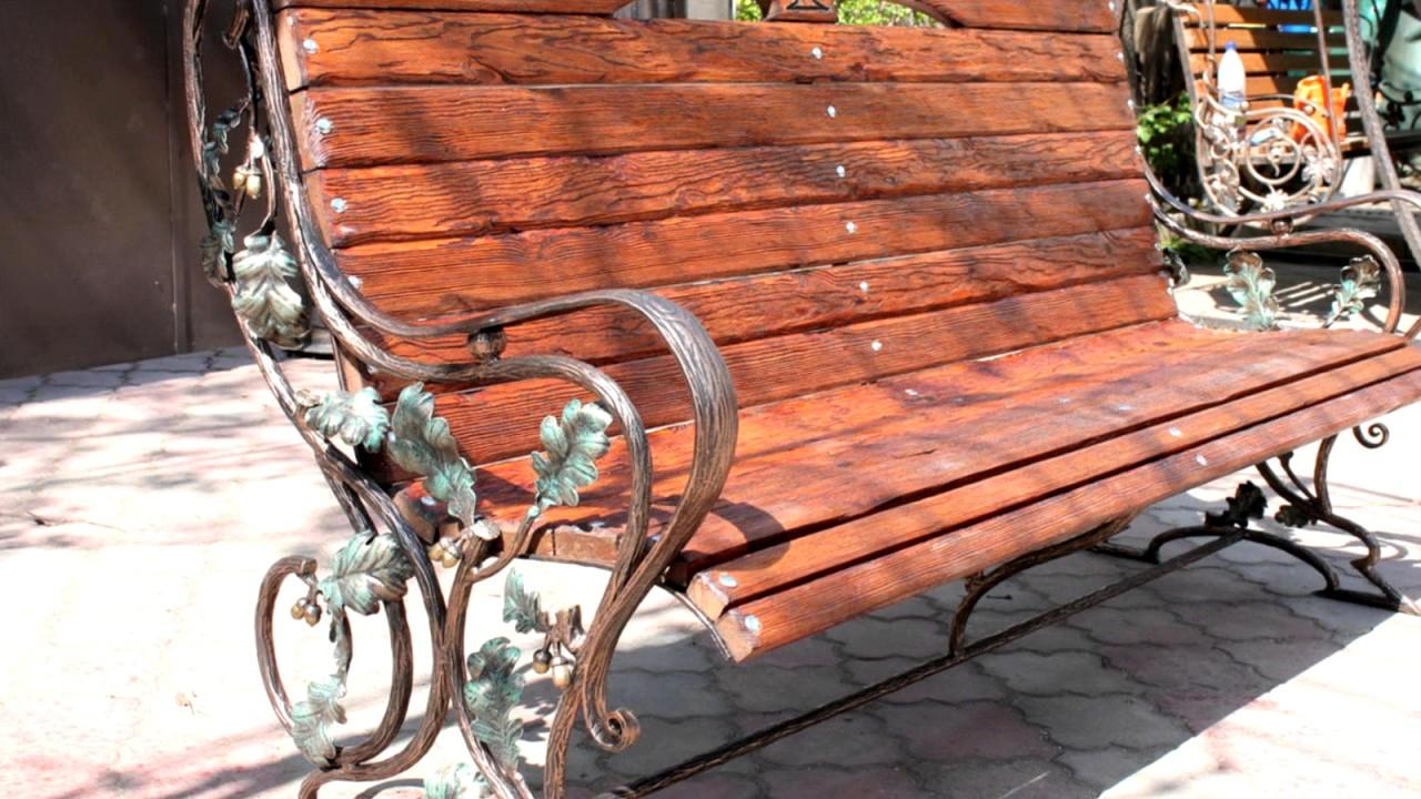 Кованые скамейки своими руками фото 805