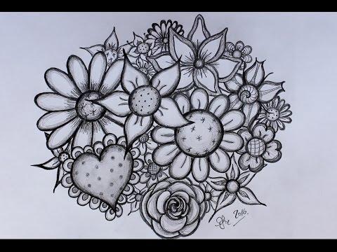 DIY: Bloemen tekenen - door Sofie Rozendaal