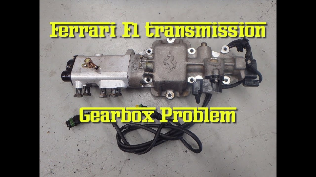 Ferrari F1 transmission gearbox problem - No gears Broken
