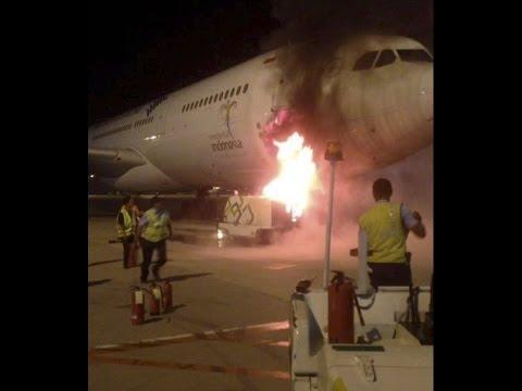 A ground power unit caught fire near Garuda Indonesia Airbus A330 in Jakarta