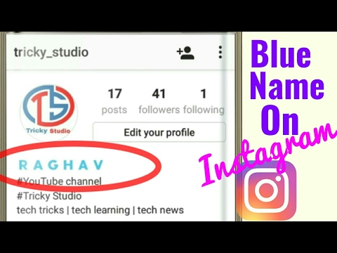 Make Your Name Blue On Instagram | Latest Trick | Tricky Studio