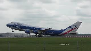 Can You Spot The Heavy Loaded Boeing Freighter during takeoff ? Cargo planes at London Stansted