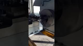 Horizontal lathe machine working video