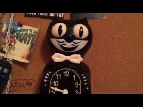 Update on Antique Kit Cat Klock: HE'S FINALLY WORKING AGAIN!!!