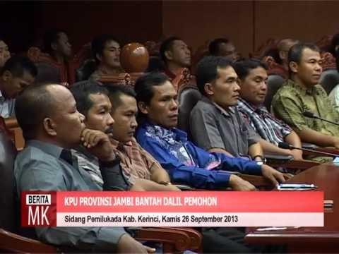 [ ] KPU dan Pemenang Pemilukada Kupaten Kerinci Bantah Tuduhan Pemohon