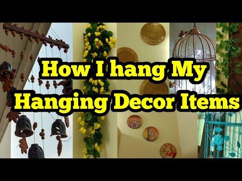 How I Hang My Hanging Decor Items,मैंने अपने Hanging Decor Itemsकैसे सजाए,anvesha's creativity