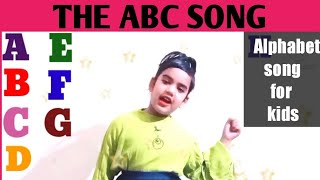 The ABC Song. Nursery rhyme for kids.  Toddlers Learning alphabets with ABC poem.