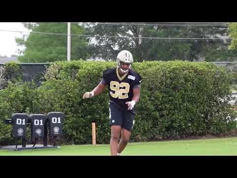 Saints top 2018 draft pick Marcus Davenport at rookie minicamp