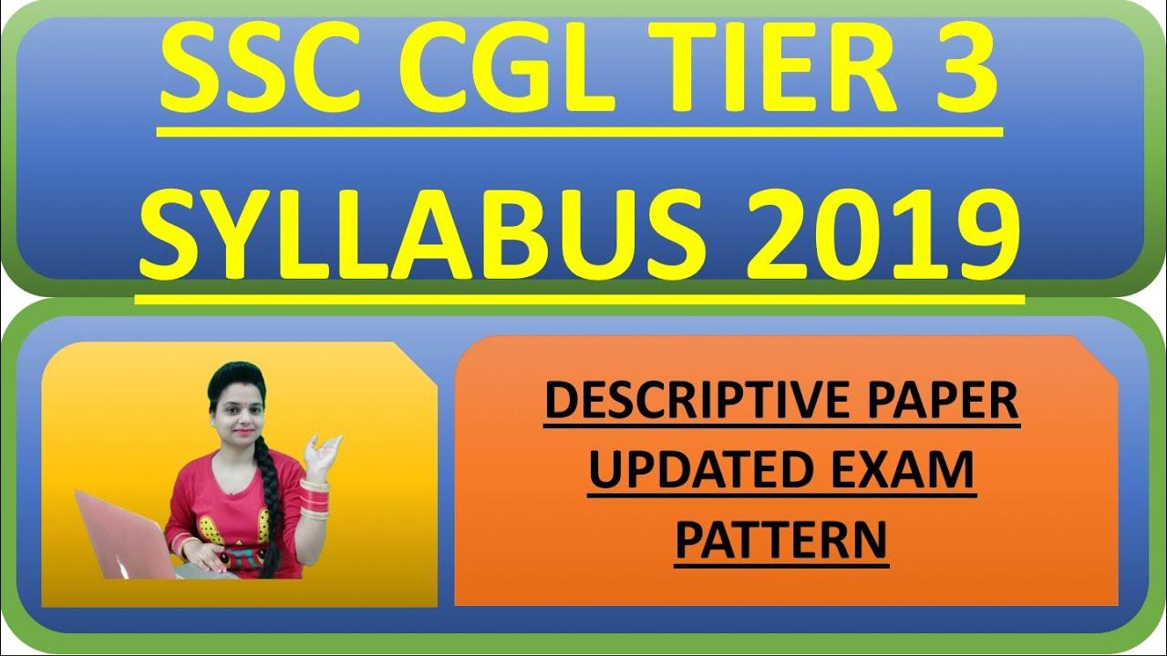 Ssc Cgl Exam Pattern Pdf