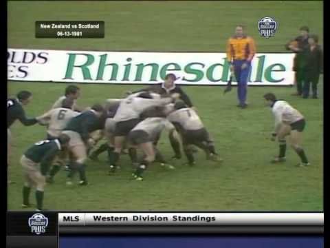 1981 Rugby Union Test Match: New Zealand All Blacks vs Scotland (1st Test)