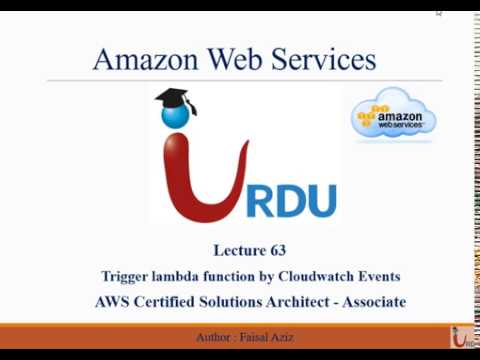 AWS CSA Lecture 63 (Trigger Lambda by Cloudwatch events)