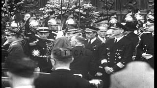 Ceremonies marking first anniversary of LVF (Legion of French Volunteers against ...HD Stock Footage