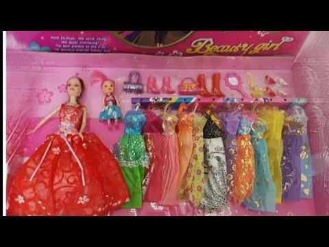 فساتين العروسة باربى و لعبة تلبيس العرايس 12 فستان ملون : تجهز باربى واختها تشيلسى للخروج
