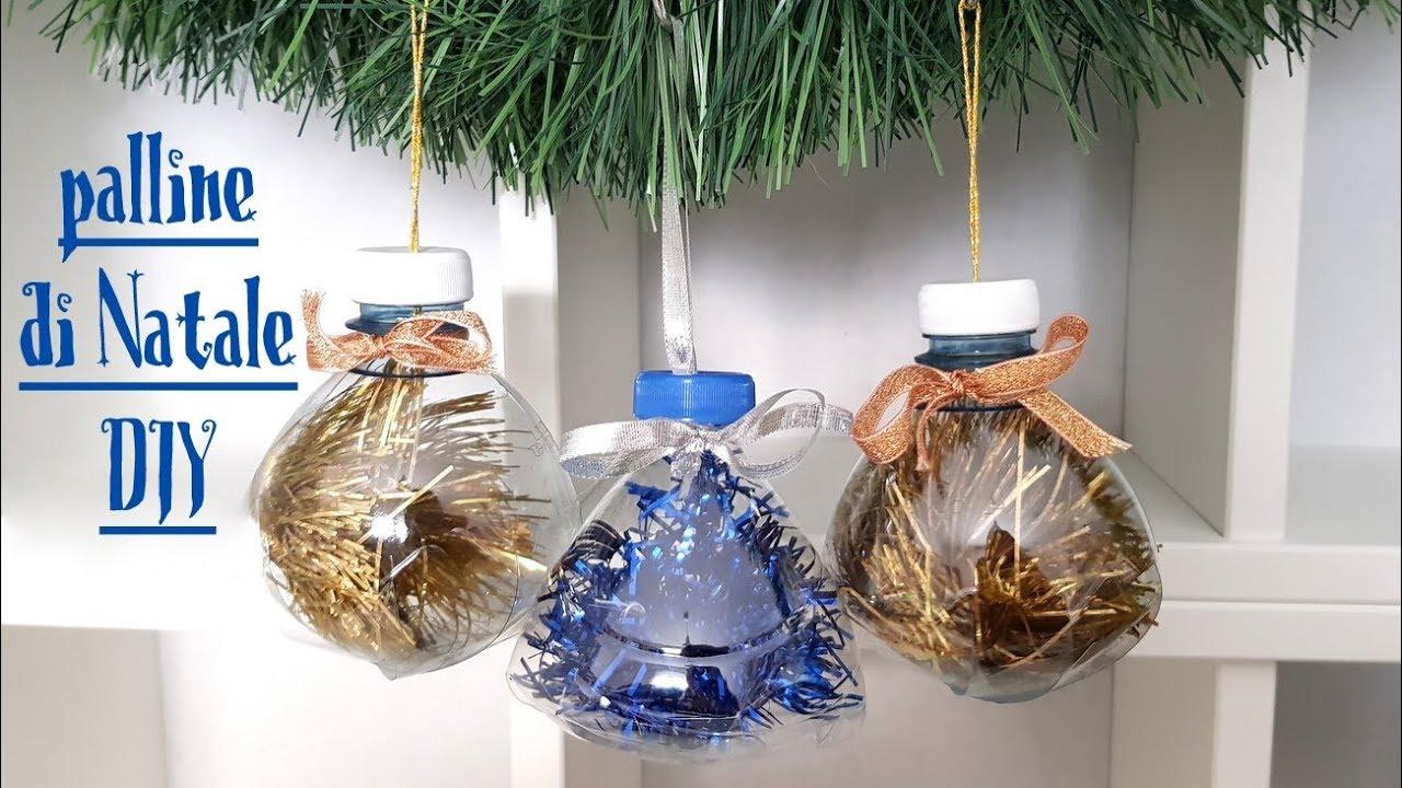 Lavoretti Di Natale Con La Plastica.Palle Di Natale Fai Da Te Riciclo Bottiglie Di Plastica Youtube
