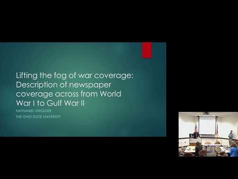 War, Media, and the Public panel on New and Old Media Sources