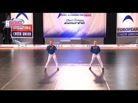133 JUNIOR DOUBLE CHEER HIP HOP Baranova   Kim KRISTALL GRACE RUSSIA
