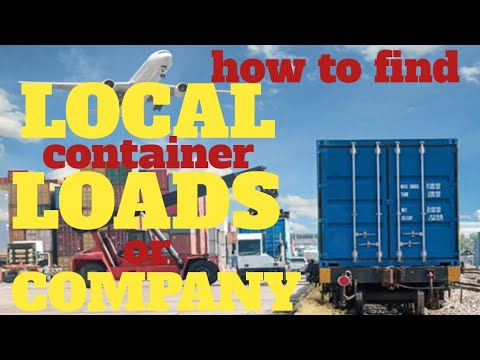 How To Find Local Container Loads / Companies