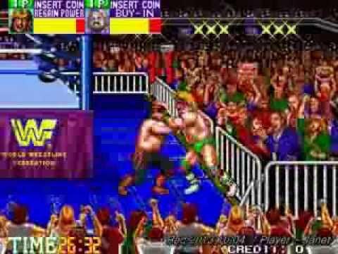 WWF Wrestlefest(Technos Japan wrestling game) - 1CC (Speed run play-2 Loops)