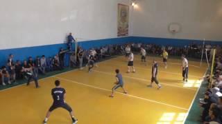 Турнир по волейбола честь ветеранов волейбола с.Кахабросо.  Ашильта - Ирганай  2:1
