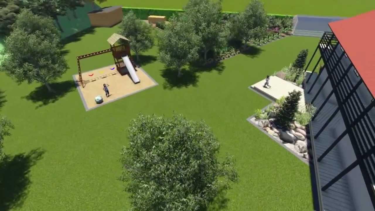 garden design 3d (rendering) - youtube