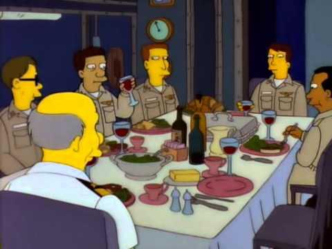 Homer beim Marinemanöver