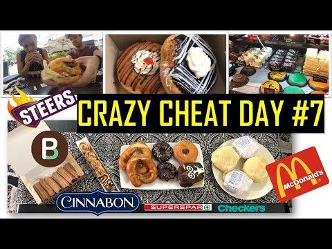 CRAZY CHEAT DAY #7 - DONUTS, CINNABON, MCDONALDS, STEERS BURGERS, CHURROS