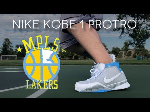 on sale cffb4 173b0 NIKE KOBE 1 PROTRO MPLS REVIEW - YouTube
