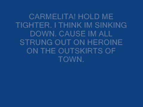 Carmelita-Warren Zevon(with lyrics)