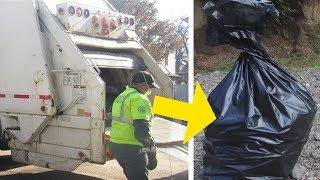 Sie fingen an, den Müll im Lastwagen zusammenzudrücken und hörten verzweifelte Schreie