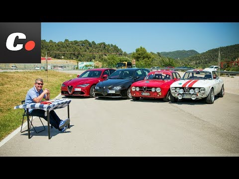 Alfa Romeo Giulia Quadrifoglio 2018 vs 147 GTA, GTV, GTAm | Prueba / review en español | coches.net